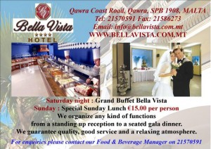 Bella Vista Advert restaurant